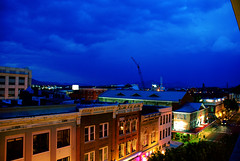 set 14 012s (jreidfive) Tags: blue storm building night clouds evening virginia downtown market crane roanoke stormclouds skycolors downtownroanoke