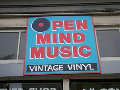 Open Mind storefront sign