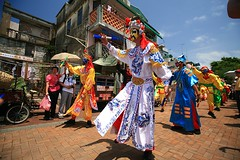 Mask Dancers on Parade - Cheung Chau (laszlo-photo) Tags: color hongkong parade  cheungchau coloful buddhasbirthday  bunfestival flyingcolors
