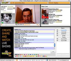 Hector Milla  and joan planas live at blogTV.com