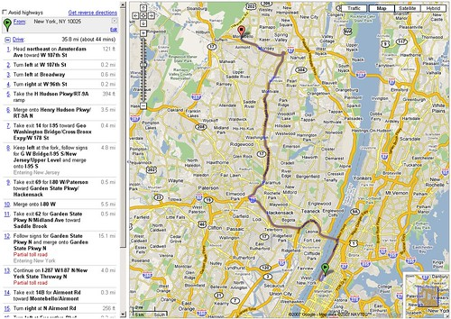 Google Maps: Not Avoiding Highways