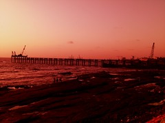 Worli Bandra Sea Link (Swami Stream) Tags: sunset red sky india colors evening shot awesome casio u bombay mumbai coolest exilim swami arabiansea swaminathan ysplix swamistream worlisealink swaminatha swamistreamcom