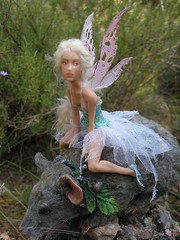 #41 Elaine ~ Fairy riding forest mouse (Nenfar Blanco) Tags: sculpture art forest mouse rat doll handmade oneofakind ooak polymerclay fairy fantasy magical faerie hada fae ratn nenufarblanco
