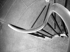 Sivill House (bensmawfield) Tags: blackandwhite london stair stairwell step staircase bethnalgreen socialhousing lubetkin sivillhouse