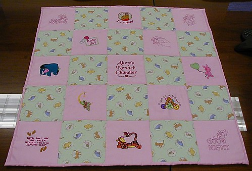 Baby quilt for Akeyla