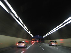 tunnel (::enrapture::) Tags: driving tunnel downtownla la losangeles downtown inpassing enrapture