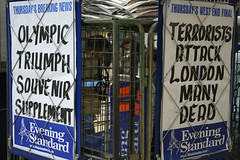Thursday's breaking news (iamelliot) Tags: london londonbombattacks londonbombblast bomb underground olympics backthebid london2012 terrorism 2005 0707 july05 july2005 londonbomb eveningstandard media
