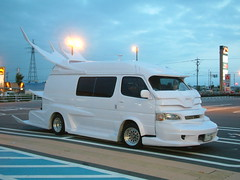 pimp my ride (highglosshighs) Tags: 2005 white japan july  modified toyama van wtf sexyness kosugi