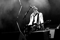 Brian singing (iko) Tags: blackandwhite bw paris live stage live8 placebo brianmolko i500