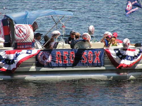 Red Sox Boat: Bear Pond 4th of July Parade