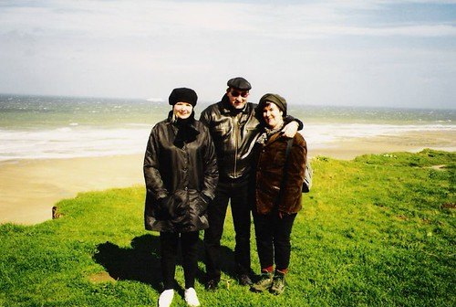 agnes, johny and corine in cap gris nez, france