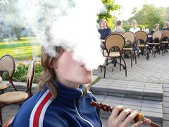 The ascetic shisha (happeningfish) Tags: cloud self helsinki shisha smoking johanna tobacco excess hookah lumixfx7
