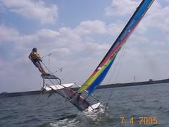 DCP00574 (Fleet23) Tags: 2005 sailing weekend 4th july catamaran hobie piont fleet23