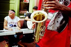 supa lowery bros (Devil Ducky) Tags: music supalowerybros neworleans louisiana iberville busking band live sax saxaphone horn sixers keyboard