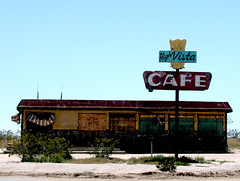 High Vista Cafe (snapscot) Tags: signs sign architecture cafe desert structures diner deserted highvista