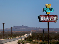 High Vista Diner Road Sign (snapscot) Tags: road signs sign desert diner highvista