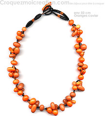 orangescaviar (lavomatic) Tags: orange fashion collier handmade main jewelry bijou clay jewels mode argile fait perle jewel polymer polymre bijouterie croquezmoicreation croquezmoicreationcom croquezmoi plomyer