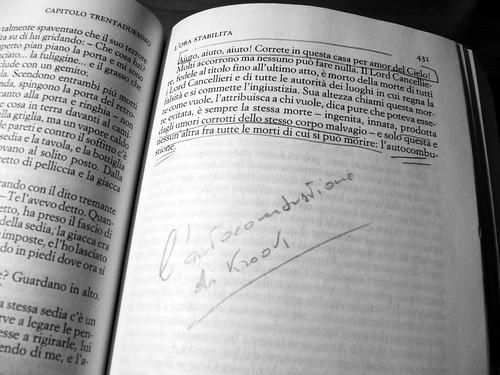 Charles Dickens, Casa desolata: la pagina dell'autocombustione di Mr Krook