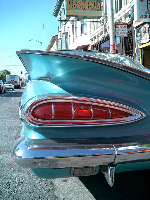 chevrolet impala 1959 sanfrancisco valencia car