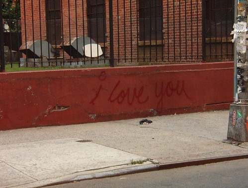 i love you pictures to tag. i love you tag near the puck building. i snapped this shot and sent it to my hubby in an email. :)