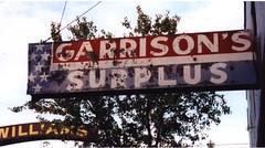 20001105 Garrison's Surplus (Tom Spaulding) Tags: california ca old sign vintage williams signage kaput williamsca