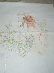 Spring Ride by Lanarte finished cross stitch