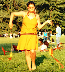 feel like some sun (Grevel) Tags: park bologna giardinimargherita italy sun orange bright swing