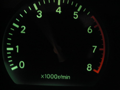 rpm glow tachometer cars