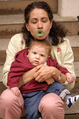 what's going on here? (jen clix) Tags: california baby liz oakland child ben pacifier tc43mom