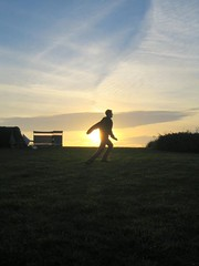 curly duncan (GatheringZero) Tags: 2005 sunset silhouette cornwall ixus duncan stives