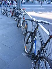 Bikes outside Flinders Street station