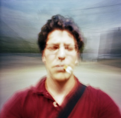 (nicolai_g) Tags: people selfportrait color film square blurry moo spacetime