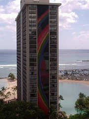 rainbow tower, hawaiian hilton (wonderbean) Tags: hawaii 2005 hilton rainbowtower waikiki
