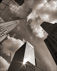 shine (davemacintosh) Tags: nyc blackandwhite streetphotography touchthesky