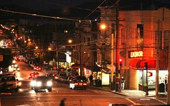 Fillmore and Union (Thomas Hawk) Tags: sanfrancisco california street city usa cars night neon unitedstates unitedstatesofamerica union fillmore cowhollow unionstreet liquer unionst fillmorestreet fillmorest