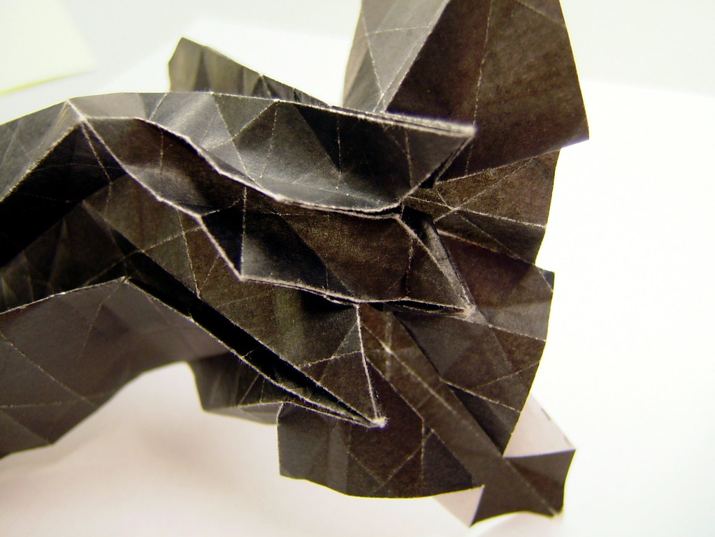 Origami octagonal star twist, work in progress