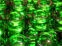 Green Votives at Crate & Barrel (pauly...) Tags: chicago green glass illinois greenisbeautiful amiko stg cratebarrel