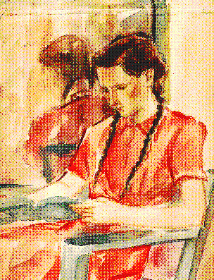 1948, painting: julie at 14 years age