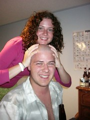Breanne and her first Bald Guy (mike.broley) Tags: uwo western shaving h