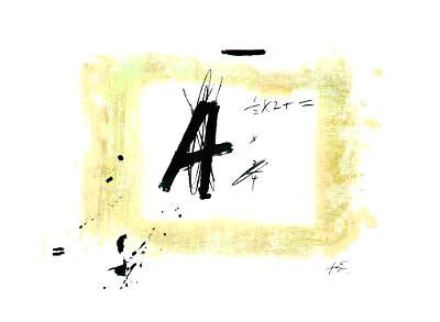 Antoni Tàpies, Lettre A, 1976