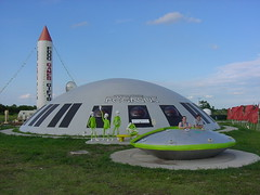 Starship Pegasus and Flying Saucer (jasoneppink) Tags: italy jenna alex geotagged texas dorky aliens sciencefiction spaceship flyingsaucer allmyphotos starshippegasus geolat32197755 geolon096893798