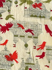 img218 (Katey Nicosia) Tags: bird birds vintage wow apron fabric cages