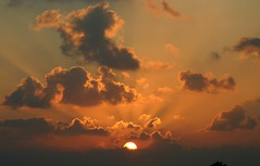 Going down (ido1) Tags: sunset red sky deleteme4 topv111 clouds israel