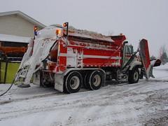 Combination Tandem Axle Plow with Epoke Spreader (North of 49) Tags: winter plows niagara snowplows