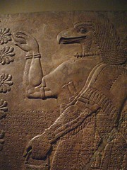 Assyrian Reliefs from the palace of Ashurnasirpal II in Nimrud Iraq 8 (mharrsch) Tags: sculpture iraq palace relief assyria assyrian ashurnasirpal nimrud mharrsch