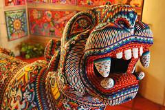 Jaguar beaded Huichol art, Puerto Vallarta, Jalisco, Mexico
