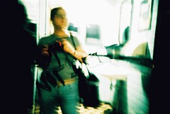CNV00026 (emma b) Tags: 2005 june amsterdam netherlands lomo lca xpro crossprocessed film e6 emma selftake mirror reflection jessops100