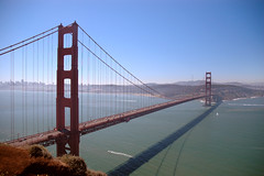 the golden gate from up high