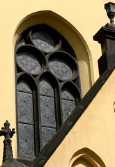 Eye of the yellow church (ido1) Tags: sun eye church window yellow topv111 eyes prague deleteme10