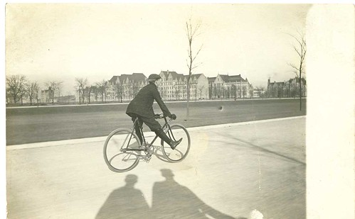 Grandpa Fred on his bicycle